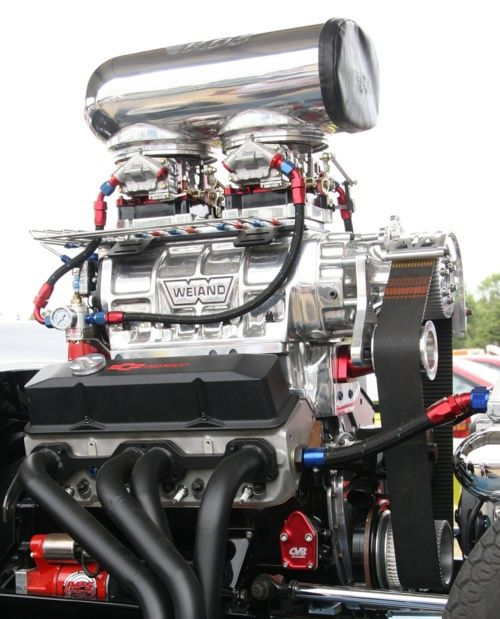 56 Chevy With A Late Model Blown SBC Motor With EFI Engines