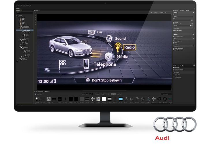 Rightware makes Kanzi UI design software that enables rapid creation and deployment of beautiful user interfaces for cars, including Clusters, IVIs and HUDs