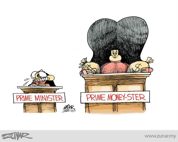 Prime Money-Ster #kartunzunar #cartoon #malaysia #primeminister #money #rosmah #duitrakyat | Zunar Kartunis | Pinterest | Cartoon, Political cartoons and Polit…