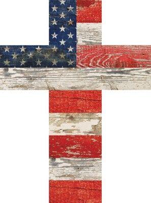 P. Graham Dunn American Flag Cross