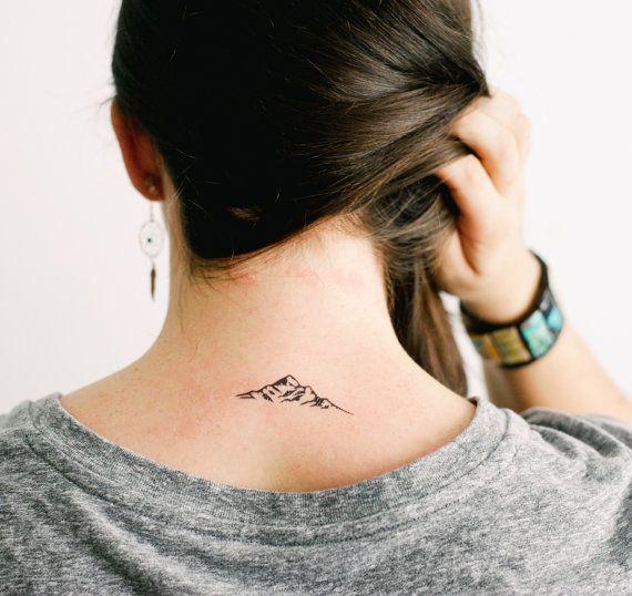 2 Mountain Outline Temporary Tattoos- SmashTat