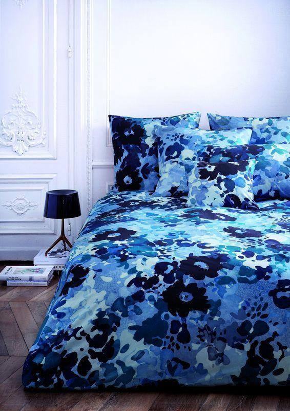 Housse de couette percale bise bleu c leste 140x200 for Housse de couette teo jasmin 140x200