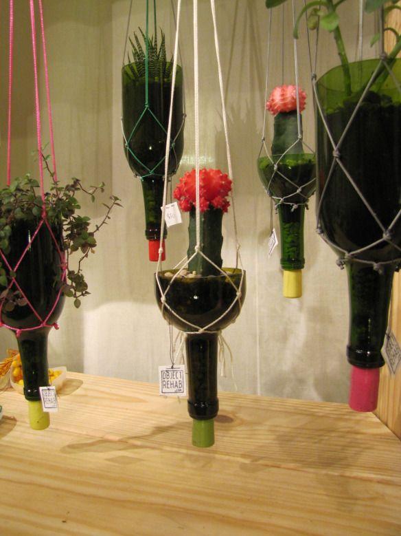 25 best ideas about wine bottle planter on pinterest. Black Bedroom Furniture Sets. Home Design Ideas