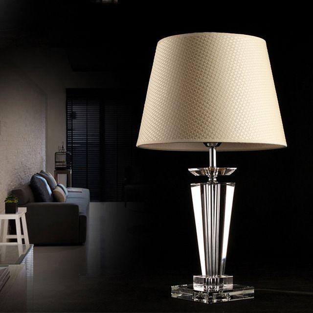 Мода хрустальные настольные лампы роскошные европа ночной бюро свет исследование работы фойе украшения