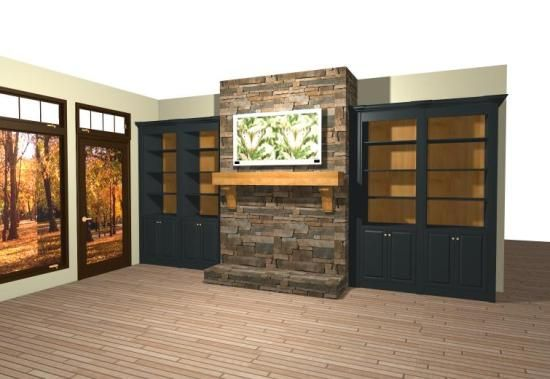 Stone Fireplaces With Built Ins