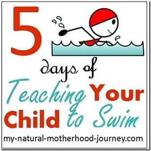 Teaching A Child To Swim - 5 days of lessons.