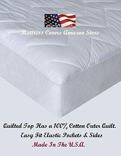 Super Single / Super Twin Quilted Cotton Waterbed Mattress Pad
