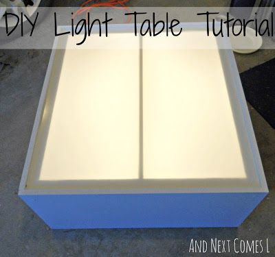 And Next Comes L: DIY Light Table Tutorial. This is a great sturdy table for anyone looking for a permanent one.