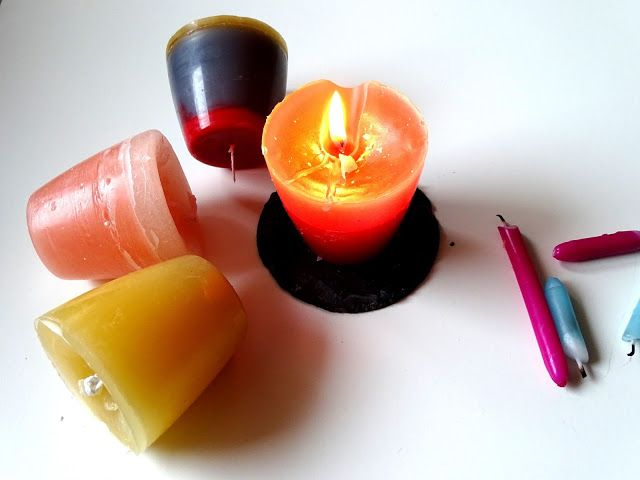 Anti-Langeweile-Ideen: Upcycling von Kerzenresten   veronicard  Kerzengießen