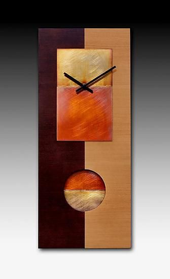 Two Tone Cherry Pendulum Clock by Leonie Lacouette