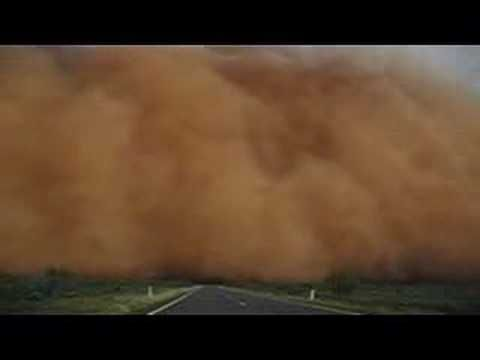 """""""Driving through a dust storm between Wilcania and Broken Hill, in NSW Australia on 21 Dec 2007."""""""