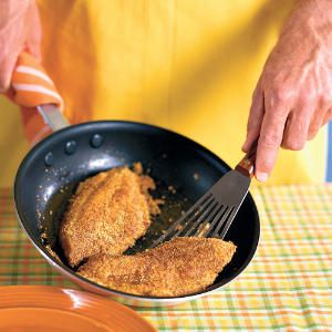 Low-Fat Fried Fish -  3 p+ per serving    I wanted to add more fish to my diet and have a taste for something fried.  I ran this recipe through the WW builder and was surprised by the low points!