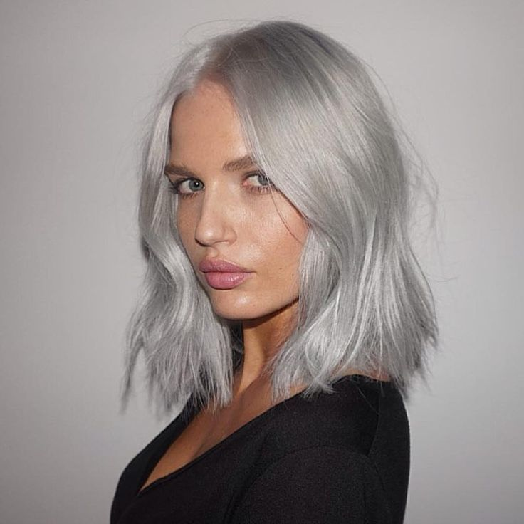 Silver @rachel_mortenson COLOR BY @lhonette #IGKHAIR #silver #hair