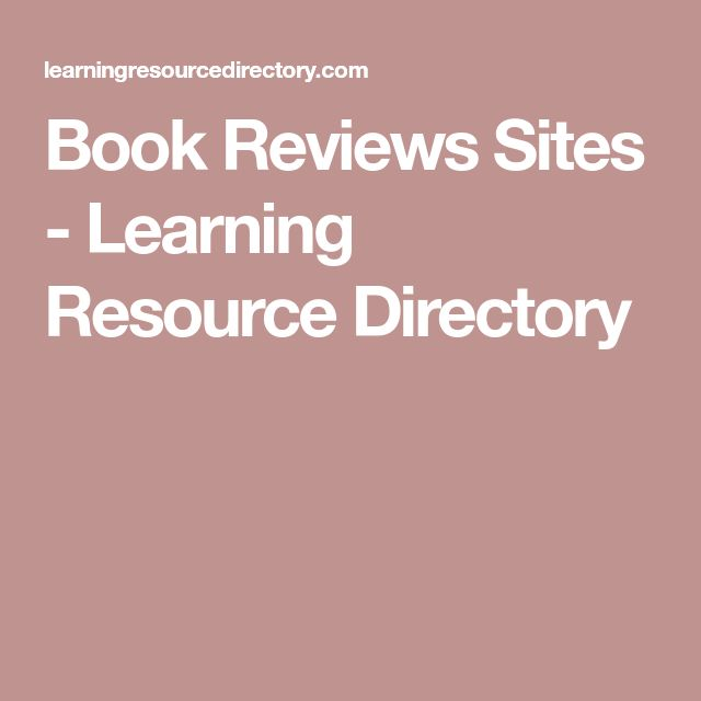 Book Reviews Sites - Learning Resource Directory