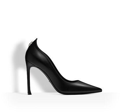 Scarpa décolleté in pelle di vitello nera, 10 cm -  Dior