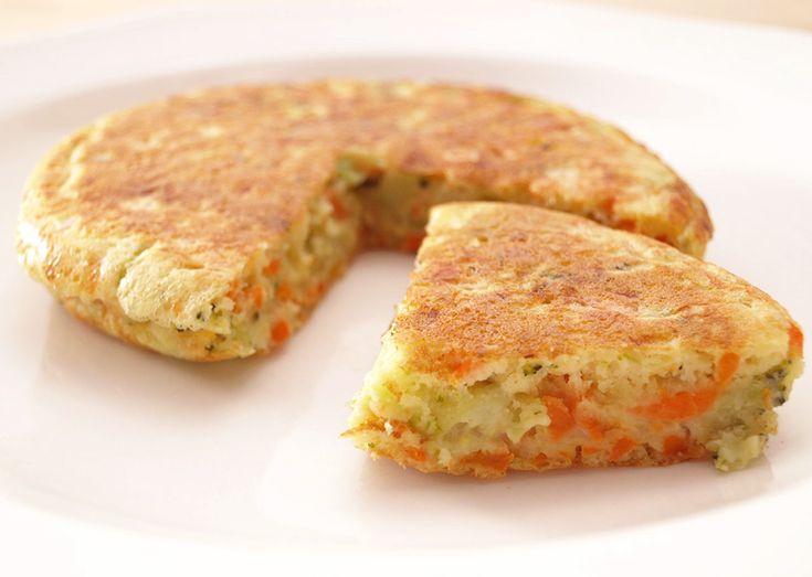 Tortitas de brócoli, zanahoria y parmesano - MisThermorecetas