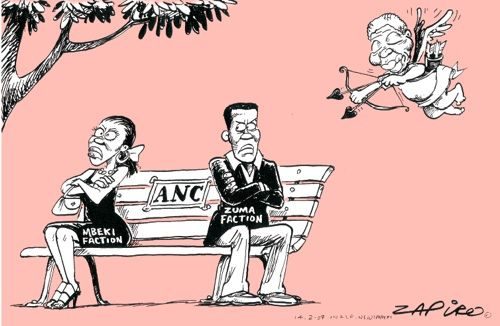 Nelson Mandela plays cupid between ANC factions