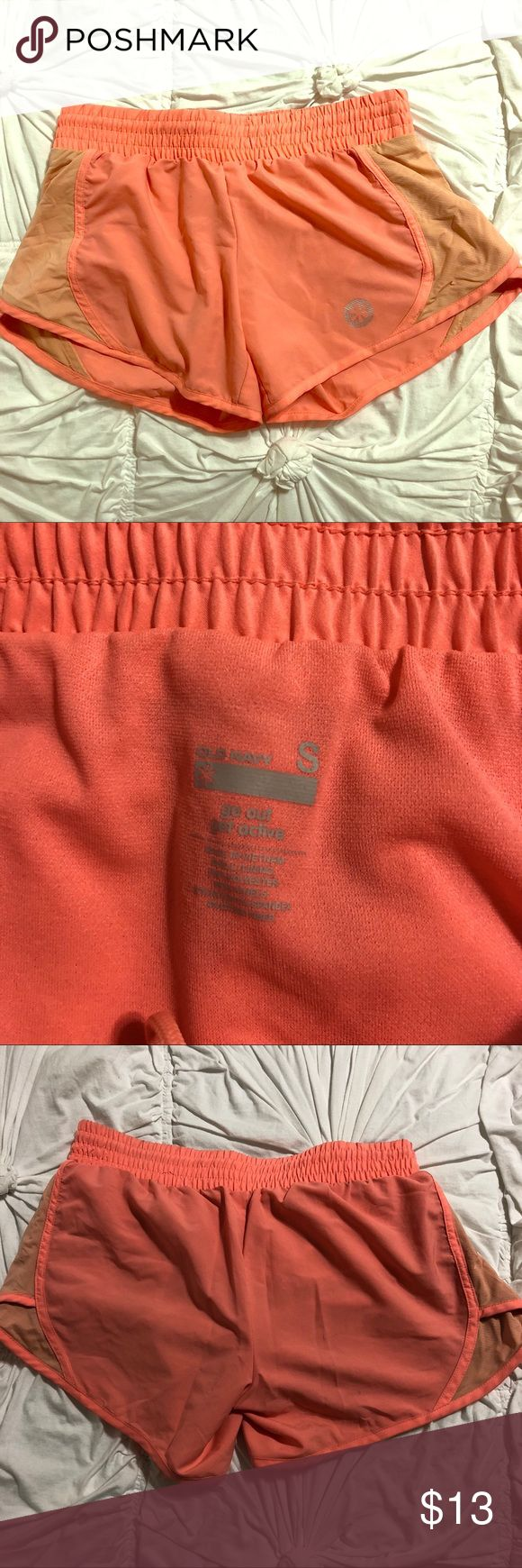 Old Navy Women's Workout Short Great condition. Bright coral color. Drawstring. Lightweight material. Very comfortable. Old Navy Shorts