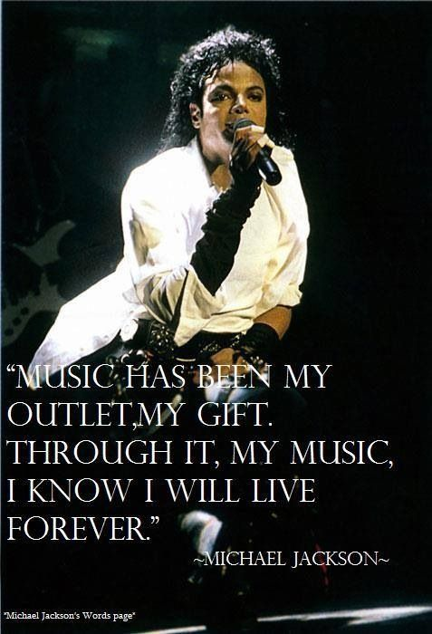 Michael Jackson in an interview he said he never wanted to die......