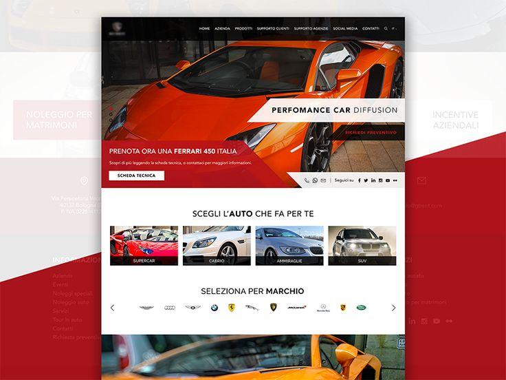 Car Rental Website Concept by RB Web Design