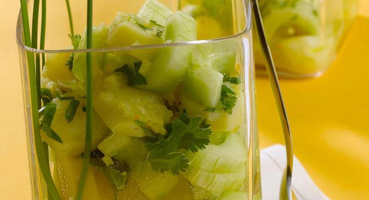 Salade de pommes de terre au concombre