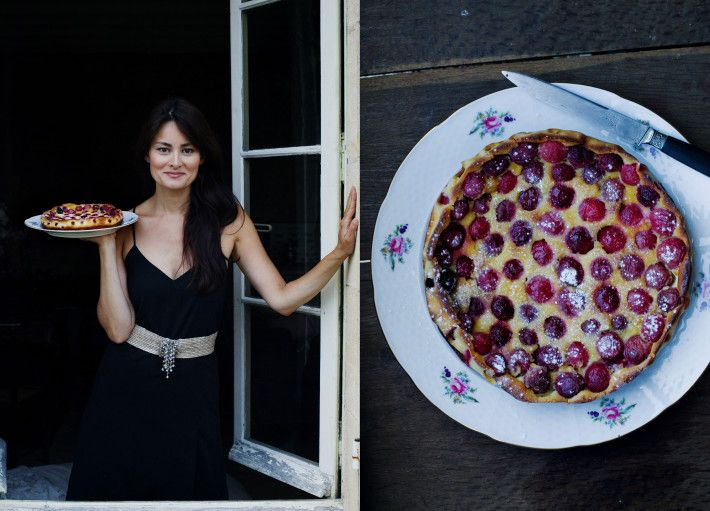 Cherry clafoutis What I love about this recipe is the salted butter aftertaste that go so well with the cherries. The most simple cake t...