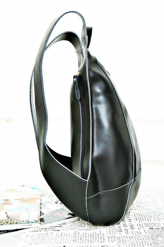 Anti-theft Turtle Shape Leather Backpack 14'' por OXHIDENature