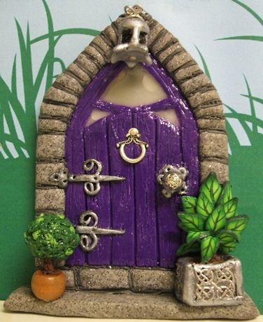 Posh Gothic Style Fairy Door by PatsParaphernalia, via Flickr