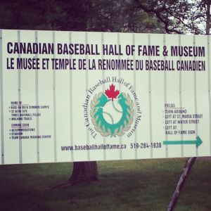 2013 Induction Ceremony at The Canadian Baseball Hall of Fame.  Brock interviews Shirley Cheek, George Bell, Rob Ducey, & Tim Raines.   Click the image to read the post about the day.