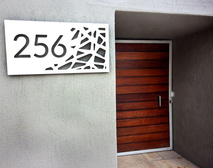 Bespoke House Sign. Laser cut Screens. Aluminium