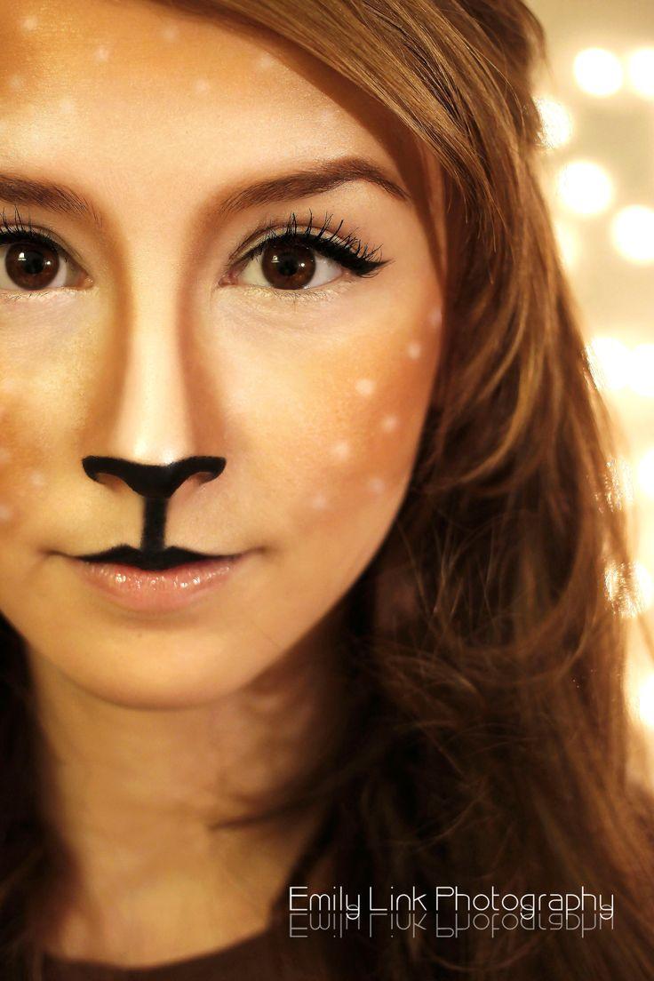 The 25+ Best Reindeer Makeup Ideas On Pinterest | Reindeer Costume Deer Costume And Deer ...