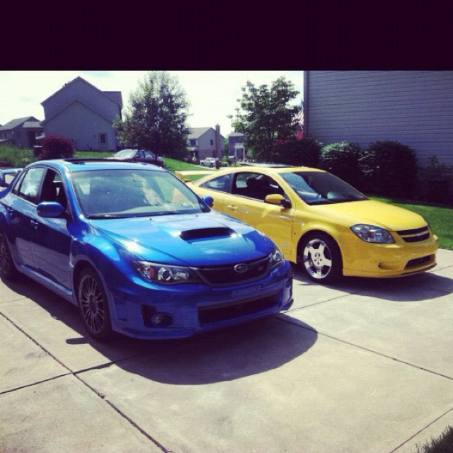 Chevy cobalt SS supercharged and Subaru WRX STI together