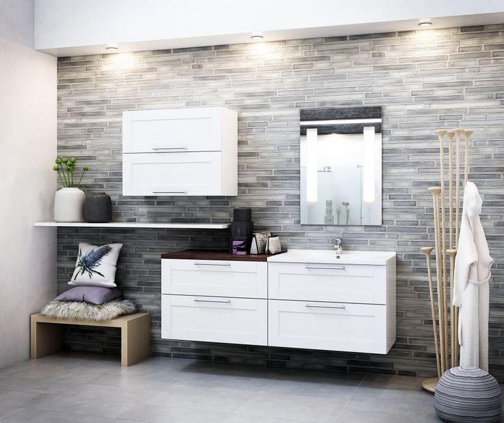 Klassisk design til badet - Model Hvid Kvadrat | HTH