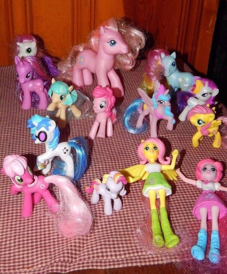 LOT 15 HASBRO MY LITTLE PONY some McDONALD'S Toy Horses Friendship Is Magic + #HasbroMcDonalds