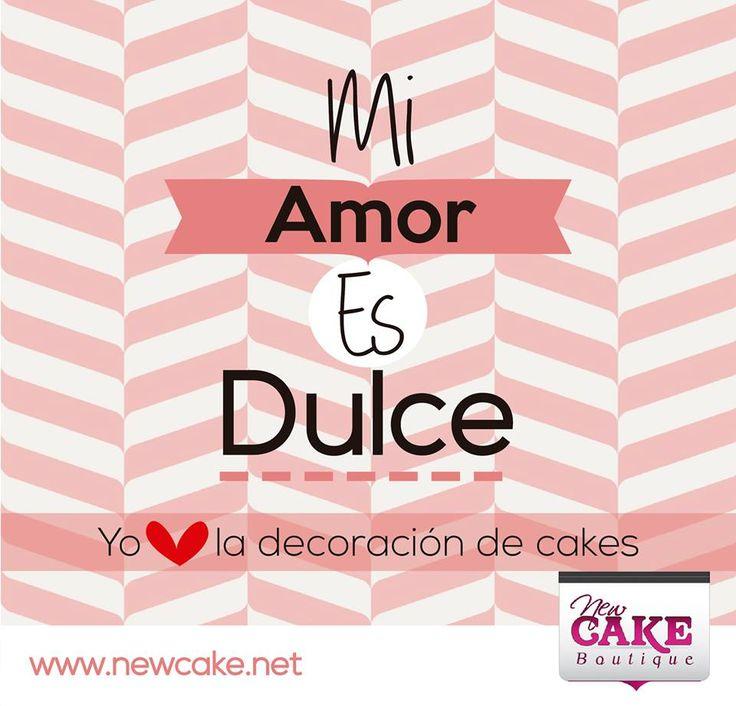 ¡Mi amor es dulce!  I <3 la decoración de cakes   www.newcake.net #newcakeboutique #weddingcake #cakeart #marcoantoniolopez #cursoscakes