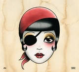 Angelique Houtkamp - pirate girl tattoo design.....I <3 pirate wenches and eye patches make me swoon!