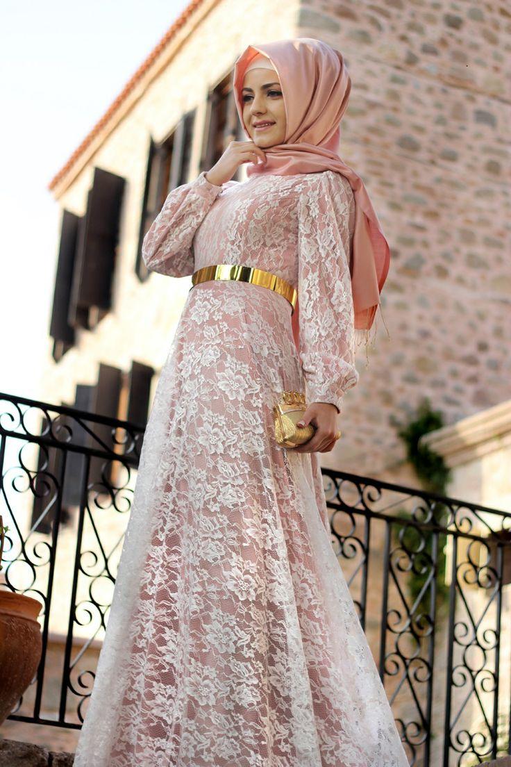 PUDARA DANTEL ELBİSE Powder Lace Dress Whatsapp Message : +90 5547723171
