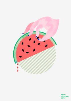 watermelon comb © Eirian Chapman