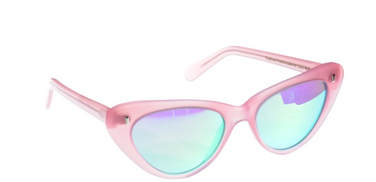 Cutler And Gross x Giles. world thru pink glasses