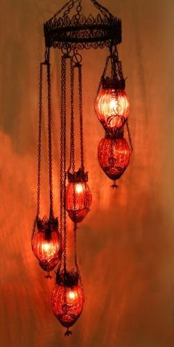 Kırmızı Cam Telkari Otantik Sarkıt #ottoman #osmanli #lighting #aydinlatma