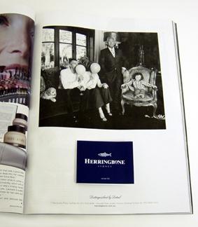 Herringbone Z-CARD tipped in to Magazine