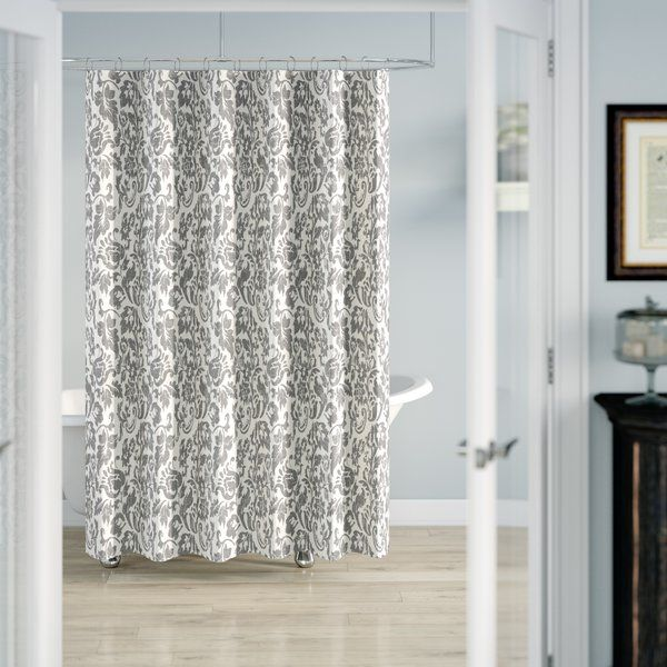 Zaina 100 Cotton Floral Single Shower Curtain In 2020 Cool Shower Curtains Silver Shower Curtain Curtains