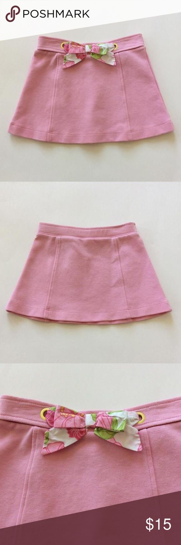 Janie and Jack skirt Janie and Jack skirt. Pink color. A line styling. 69 cotton 27 polyester 4 spandex. Size 6-12 mths. Like new condition. Janie and Jack Bottoms Skirts
