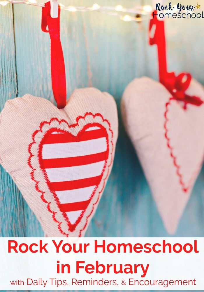 Mama, you CAN rock your homeschool in February! This free downloadable calendar has daily tips, reminders, & encouragement to help you enjoy your homeschooling adventures.
