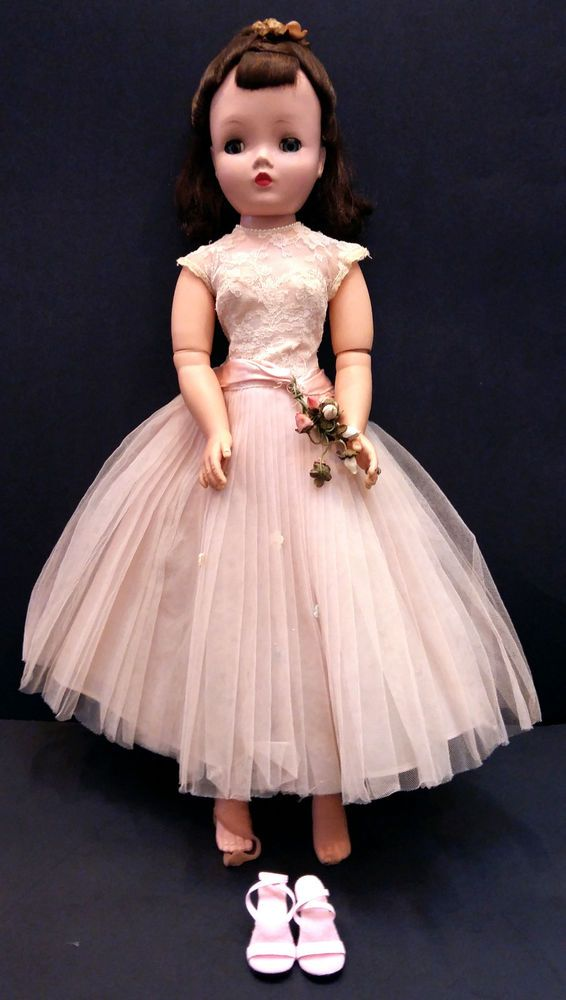 """VINTAGE MADAME ALEXANDER 21"""" CISSY DOLL WITH ORIGINAL CLOTHING c.1956 #MADAMEALEXANDER #DollswithClothingAccessories"""