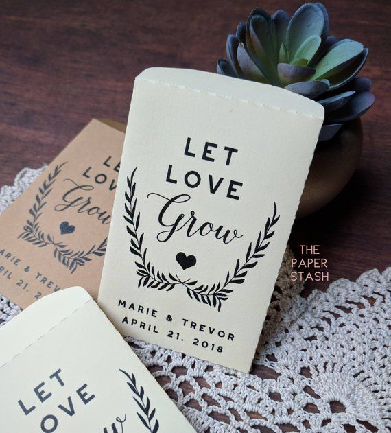 PRINTABLE, Seed Packet, Let Love Grow, PDF, Template