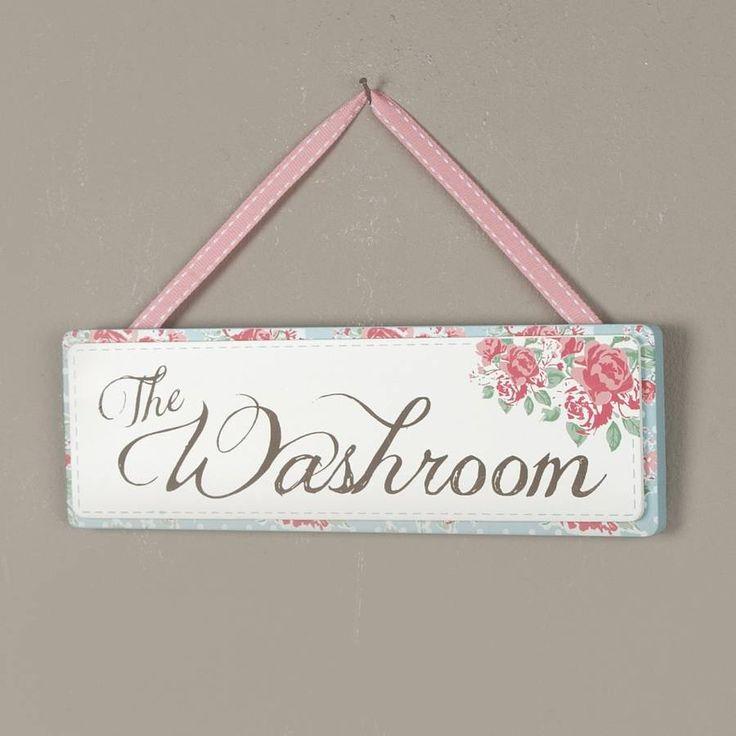 vintage rose washroom sign by dibor | notonthehighstreet.com