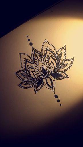 Lotus flower tattoo design by christian