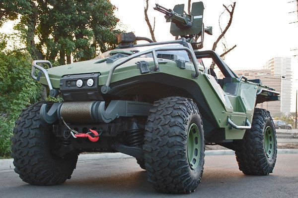 343 Industries commissioned the build of a real life Halo Warthog