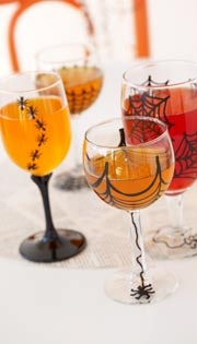 ghoulish goblets for a spooky treat halloween diy project savers goodwill - Halloween Diy Projects
